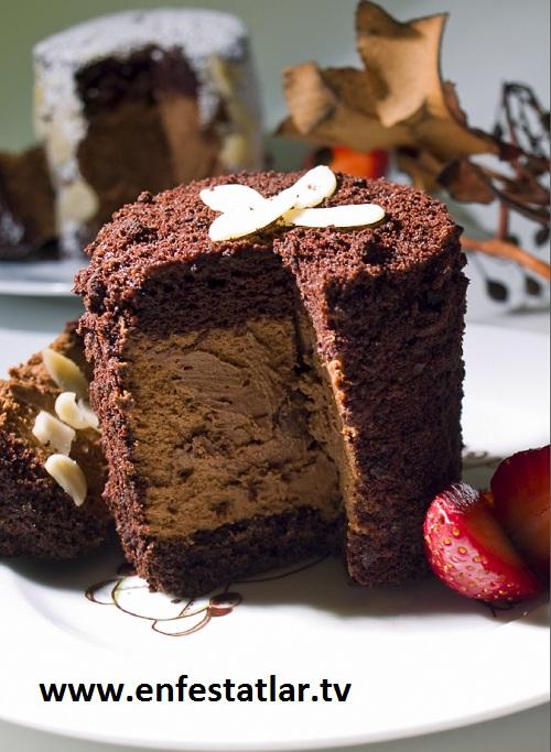 Cappucinolu Çikolatalı Muslu Pasta