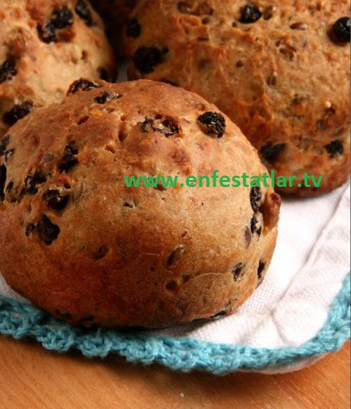 Glutensiz Fındıklı Üzümlü Ekmek
