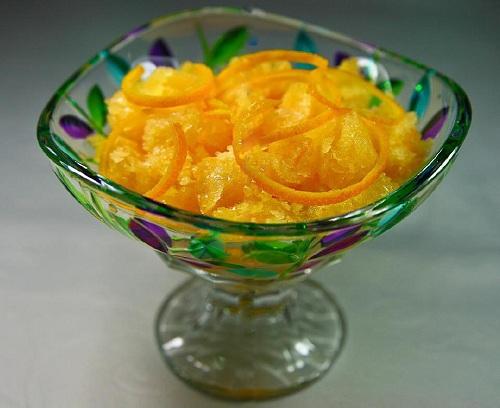 Portakallı ve Limonlu Granita