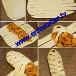 Milföy hamurundan mantarlı börek